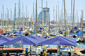 Waterfront harbour in Barcelona, Catalonia, Spain. — Stock Photo