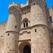 Knights Grand Master Palace in the Medieval town. — Stock Photo