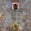 Wall of the Knights Grand Master Palace. Rhodes. — Stock Photo