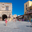 Old town on Rhodes Island, Greece. — Stock Photo