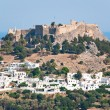 Stock Photo: Overview of Lindos on Rhodes island, Greece.