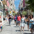 Shopping on Ermou Street in Athens, Greece. — Stock Photo