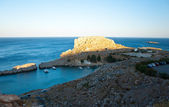 Panorama of Lindos. — Stock Photo