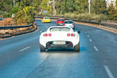 ATHENS-AUGUST 1: Lotus car on the highway on August 1,2013 in Athens, Greece. — Stockfoto