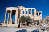 The Erechtheion on Acropolis of Athens in Greece. — Stock Photo
