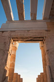 Detail of the Propylaea. Athens, Greece. — Stock Photo