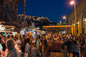 Nightlife in Plaka in Athens, Greece. — Stock Photo