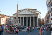 The Pantheon on August 6, 2013 in Rome, Italy. — Stock Photo