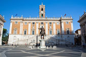 The Capitoline Hill and Piazza del Campidoglio on August 5 in Rome, Italy. — Stock Photo