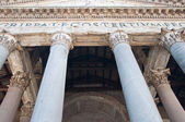 The Corinthian columns of the Pantheon. Rome. — Stock Photo