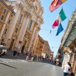 ROME-AUGUST 7: The Via del Corso on August 7, 2013 in Rome. The Via del Corso commonly known as the Corso, is a main street in the historical centre of Rome. — Stock Photo #35817733