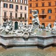 ROME-AUGUST 8: Fountain of Neptune on August 8,2013 in Rome, Italy. The Fountain of Neptune is a fountain in Rome, Italy, located at the north end of the Piazza Navona. — Stock Photo #35817989
