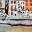 ROME-AUGUST 8: Fountain of Neptune on August 8,2013 in Rome, Italy. The Fountain of Neptune is a fountain in Rome, Italy, located at the north end of the Piazza Navona. — Stock Photo #35818005