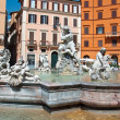 ROME-AUGUST 8: Fountain of Neptune on August 8,2013 in Rome, Italy. The Fountain of Neptune is a fountain in Rome, Italy, located at the north end of the Piazza Navona. — Stock Photo