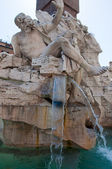 Fountain of the four Rivers with Egyptian obelisk on Piazza Navona in Rome. Italy. — Stock Photo