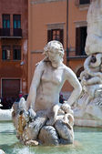 Fountain of Neptune in Rome, Italy. — Stock Photo