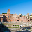 Trajan's Forum and Casa dei cavalieri di Rodi. Rome, Italy — Stock Photo