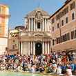 ROME-AUGUST 6: Trevi Fountain on August 6,2013 in Rome. Trevi Fountain is a fountain in the Trevi district in Rome, Italy. — Stock Photo