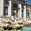View of the Trevi Fountain in Rome, Italy. — Stock Photo