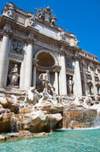 The Statue of Neptune. Trevi Fountain in Rome, Italy. — Stock Photo