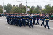 RUSSIA-SEPTEMBER 17: Parade in Bryansk on September 17,2013. Bryansk is a city and the administrative center of Bryansk Oblast, Russia, located 379 kilometers (235 mi) southwest of Moscow. — Stock Photo