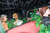 FIGUERES, SPAIN-AUGUST 6: Inside of the surrealistic car in the Dali Museum on August 6,2009.Dali Theatre and Museum is a museum Salvador Dali in his home town of Figueres, in Catalonia, Spain. — Stock Photo