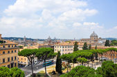 ROME-JULY 19: Rome as seen from the Capitoline Hill on July 19, 2013 in Rome, Italy. — Stock Photo