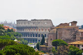 The Colosseum as seen from the Palazzo di Venezia in Rome, Italy. — Stock Photo
