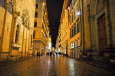 FLORENCE-NOVEMBER 10:Via dei Calzaiuoli at night on November 10,2010 in Florence,Italy. Via dei Calzaiuoli is one of Florence's shopping streets with various historical point of interest. — Stock Photo