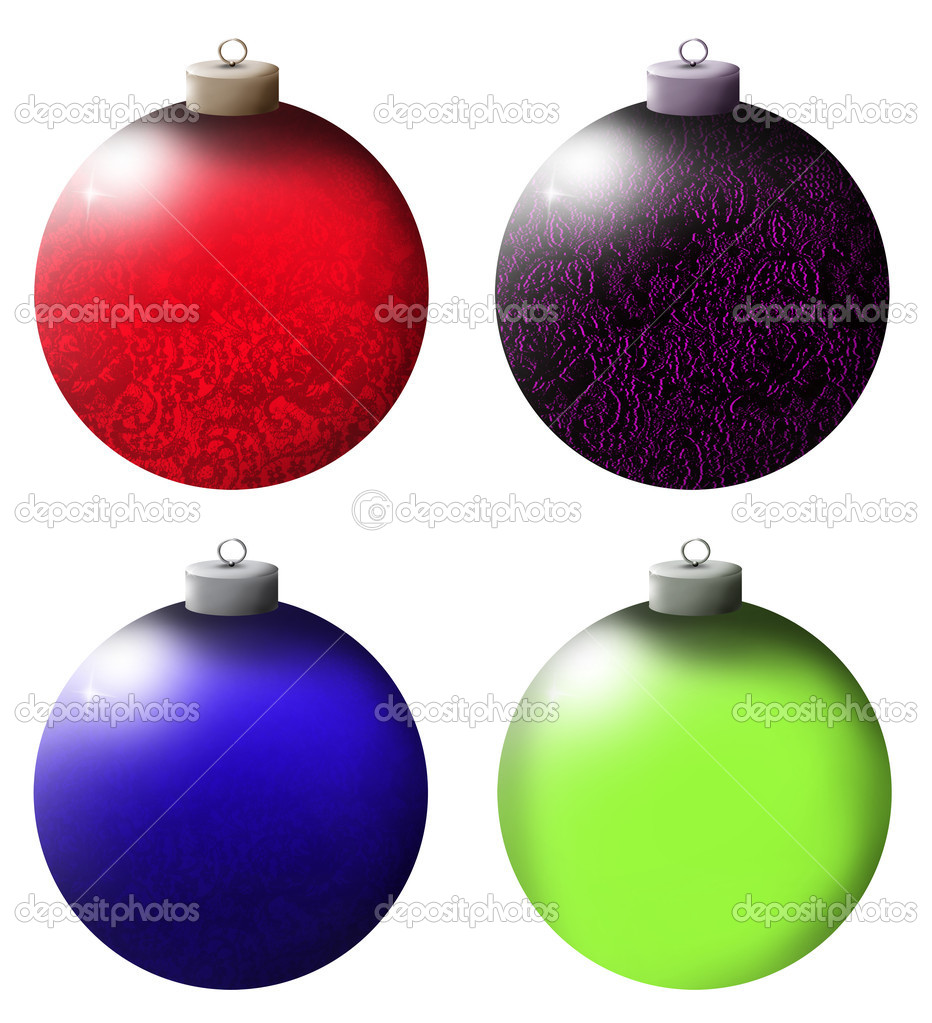 Christmas balls on white background  Stock Photo #14971505