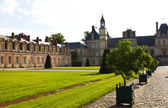 Palace of Fontainebleau, one of the largest royal chateaux and a — Stock Photo