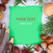Paper bordering with christmas decoration — Stock Photo #14194872