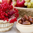 Fruit and dates — Stock Photo