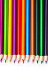 Lápices de colores sobre fondo blanco — Foto de Stock