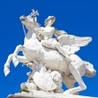 Paris - statue from entry of Tuileries garden — Stock Photo