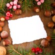 Paper bordering with christmas decoration — Stock Photo #14969065