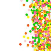 Confetti no fundo branco — Foto Stock