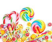 Colorful lollipop isolated on white — Stock Photo