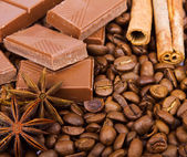 Chocolate with coffee — Stockfoto