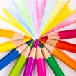 Close up of color pencils — Stock Photo