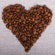 Heart shape Coffee Beans — Stock Photo