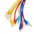 Royalty-Free Stock Photo: Multi colored computer network cables isolated on white backgrou