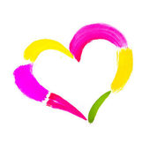 Painted Heart Outline — Stock Photo