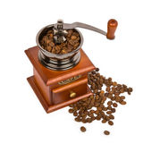 Coffee grinder with coffee — Stock Photo