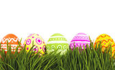 The colorful painted Easter eggs — Foto Stock