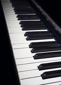 Piano keys closeup monochrome — Foto de Stock