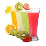 Fresh juices isolated on white — Stock Photo #24276585
