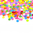 Confetti on white background — Stock Photo