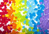 Arco iris de confeti — Foto de Stock
