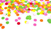 Confetti on white background — Stock Photo